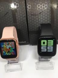 Smartwatch Iwo X7 faz ligação + Fone bluetooth iPods 12 de brinde