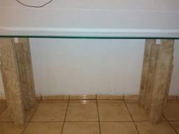 Aparador de vidro e marmore