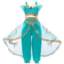 Fantasia princesa Jasmine Aladin azul