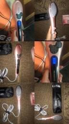 Escova de cabelo alisadora