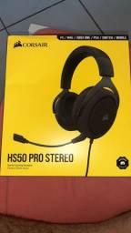 Headset HS50 Pro Stereo, na caixa sem uso.