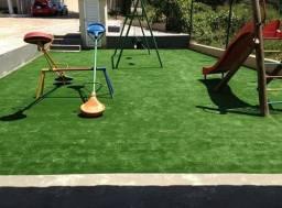 Grama Sintética Decorativa Ideal Play 12mm - Verde