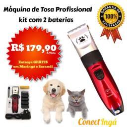 Máquina de Tosa Pet Profissional - Kit 10 Peças