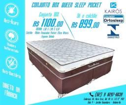 Conjunto Sleep Queen Size 25 cm Molas Ensacadas até 10x Sem Juros