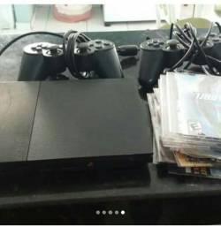 Ps2 com 2 controles funcionando e um pendrave e alguns jogos