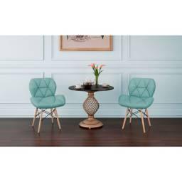 Jogo de cadeiras decorativa