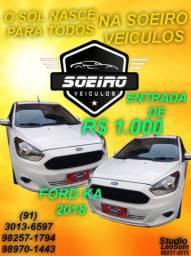 KA 3 CILINDROS ENTRADA R$1.000