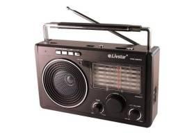Rádio Livstar Am Fm Sw Pendrive Mp3 Bateria Pilha Energia 110/220v