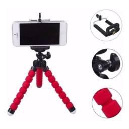 Suporte celular tripé câmera pequeno articulado flexível