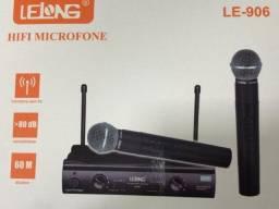 Microfone duplo sem fio - lelong