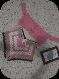 Conjunto de crochê sobre encomenda