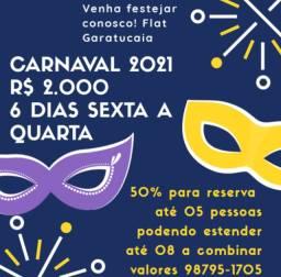 Carnaval na praia - Flat completo