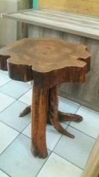 mesa tronco madeira pura