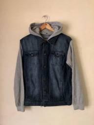 Jaqueta Jeans com manga de moletom