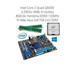 Kit Asus G41tm-lx3 Intel core 2 quad Q8200 + 8Gb Ddr3