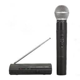 Microfone Mão Uhf Alcance 40m Profissional Palestra Reuniões