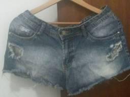 Short jeans 100% algodao tamanho 42 cintura media