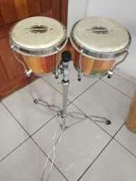 Vendo bongô com pedestal