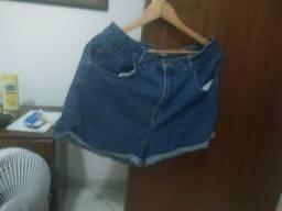 Short jeans C&A 100% algodão estilo mommy tamanho 44