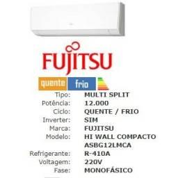 Evaporadora Split HI Wall Fujitsu 12.000 Btu/h Quente/Frio 220V