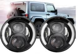 Farol de Led Universal Defender/Jeep/Fusca