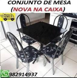Preço Excelente!!Belissimo Conjunto de Mesa 4 cadeiras Com Frete Gratis!