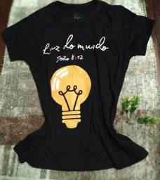 T-shirt c/ artes do evangelho