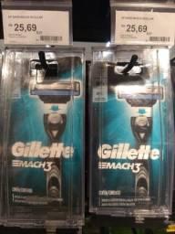 Aparelho barbear Mach 3 Gillette