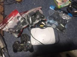 PS1 com manet com fio e sem fio funcionando perfeitamente