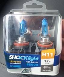 Par de lâmpadas h11 super Branca