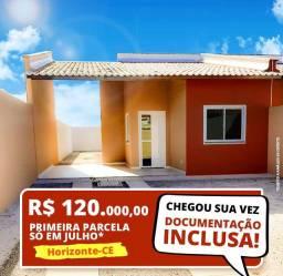 Casas 2 quartos prontas para morar