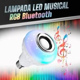 Lâmpada Bluetooth RGB + controle remoto