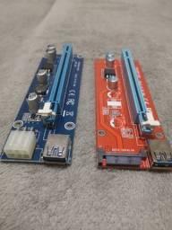 Cabos Riser Pci-e 16x 60cm Usb 3.0 Mineração Criptomoedas