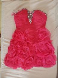 Vestido de festa debutante rosa