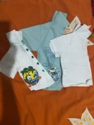 Camisas de botão bebê