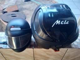 Título do anúncio: Vendo, caixa e capacete tamanho 58 semi novo