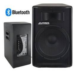 Caixa de som datrel at15-300 com bluetooth preta 110V/220V