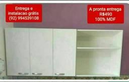 Armário de cozinha 100% mdf