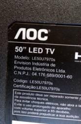 Com garantia tv AOC Led 50 polegadas por 799,00