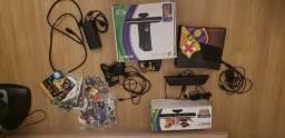 Título do anúncio: Xbox 360 com Kinect, jogos, e controles na caixa