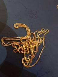 Corrente de ouro 18k  modelo veneziana 3 gramas