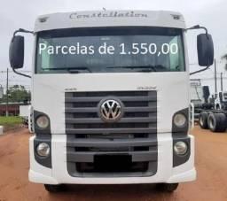 VW Constellation 31.330 6x4 2014 Caçamba Entrada mais Parcelas com Contrato de Serviço.