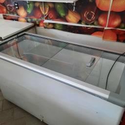 Freezer Horizontal Tampa de vidro 503 litros