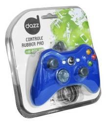 Controle Joypad Dazz Rubber Blue X-Box 360 - Novo