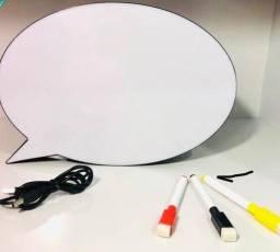 Luminaria/ Abajur Led Quadro Branco c/ USB