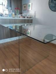 Mesa de vidro 12mm de parede