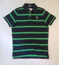 Camisa Abercrombie & Fitch Polo Listrada Tamanho G
