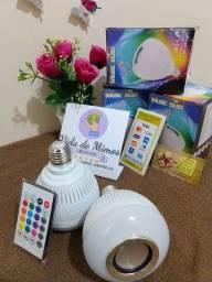 Lâmpada Caixa de som Bluetooth RGB com controle de cor e intensidade de luz Bivolt