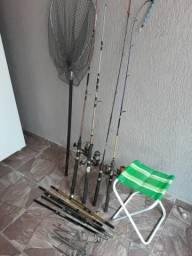 Kit pesca pouco usado!!