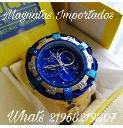 c3d4105dc76 Relogio invicta corda e fundo azul reserve thunderbolt promoçao magnatas  importados